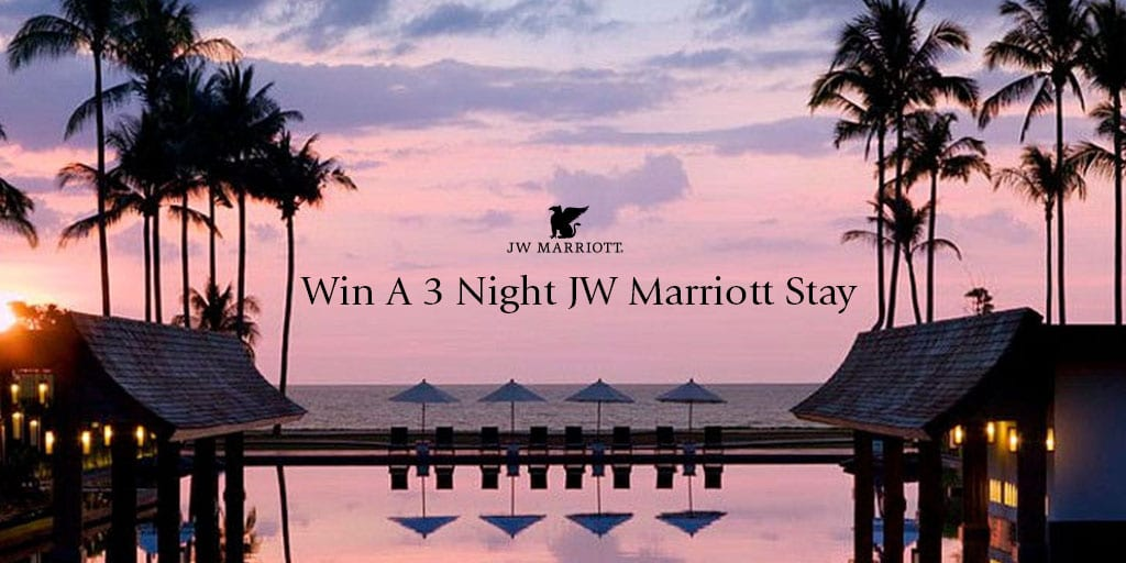 This is a gorgeous sunset image within a JW Marriott.
