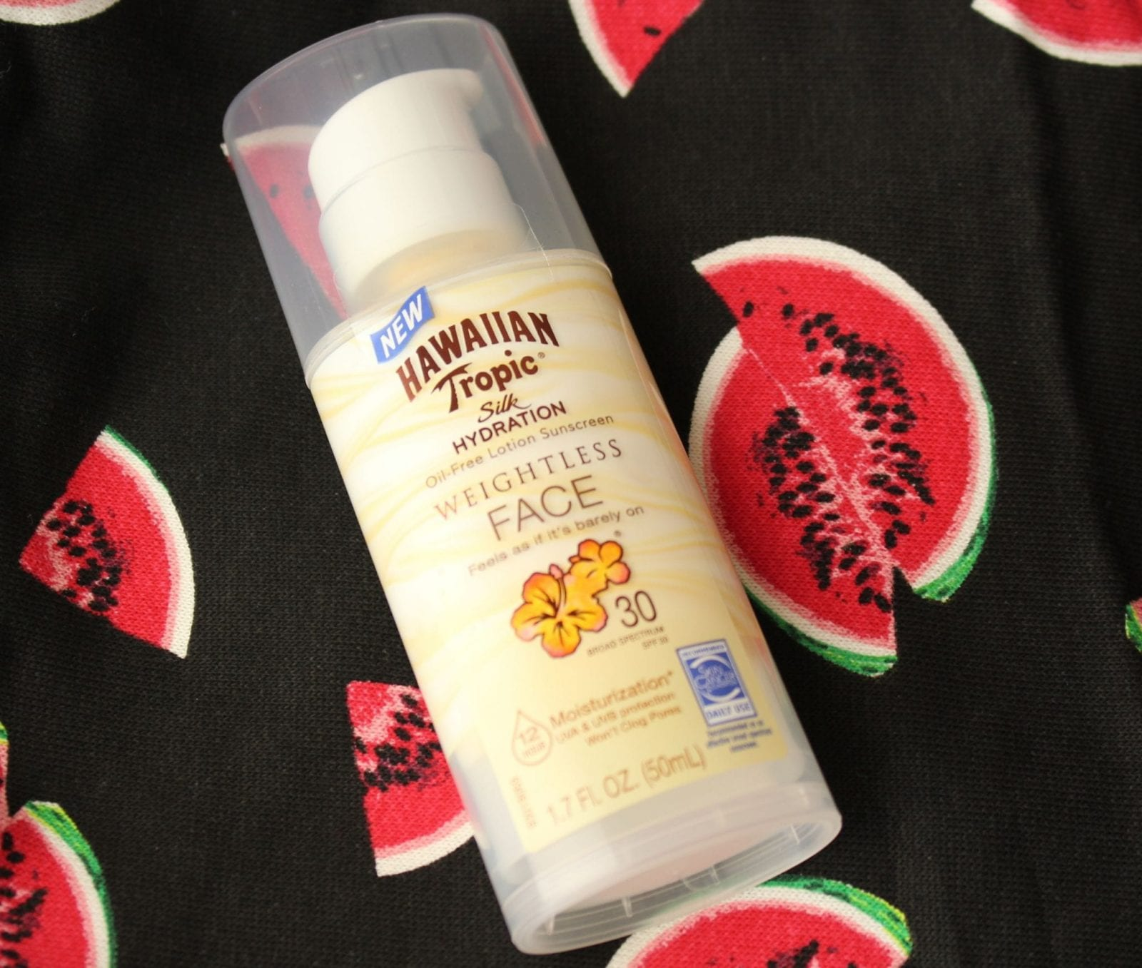 This is a close up of the Hawaiian Tropic® Silk Hydration™ Face Lotion.