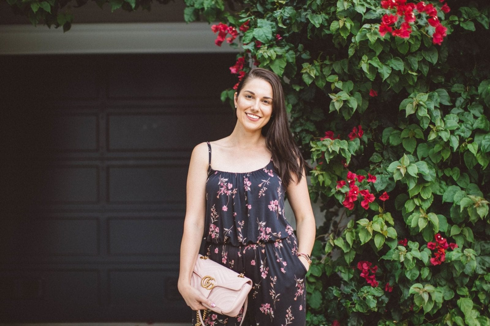Enjoying the San Francisco Weather in a Floral Romper