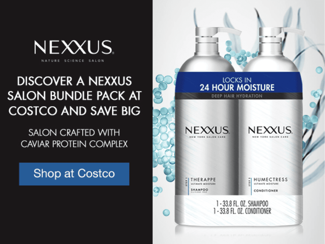 This is a Nexxus Costco bundle deal available in January 2018.