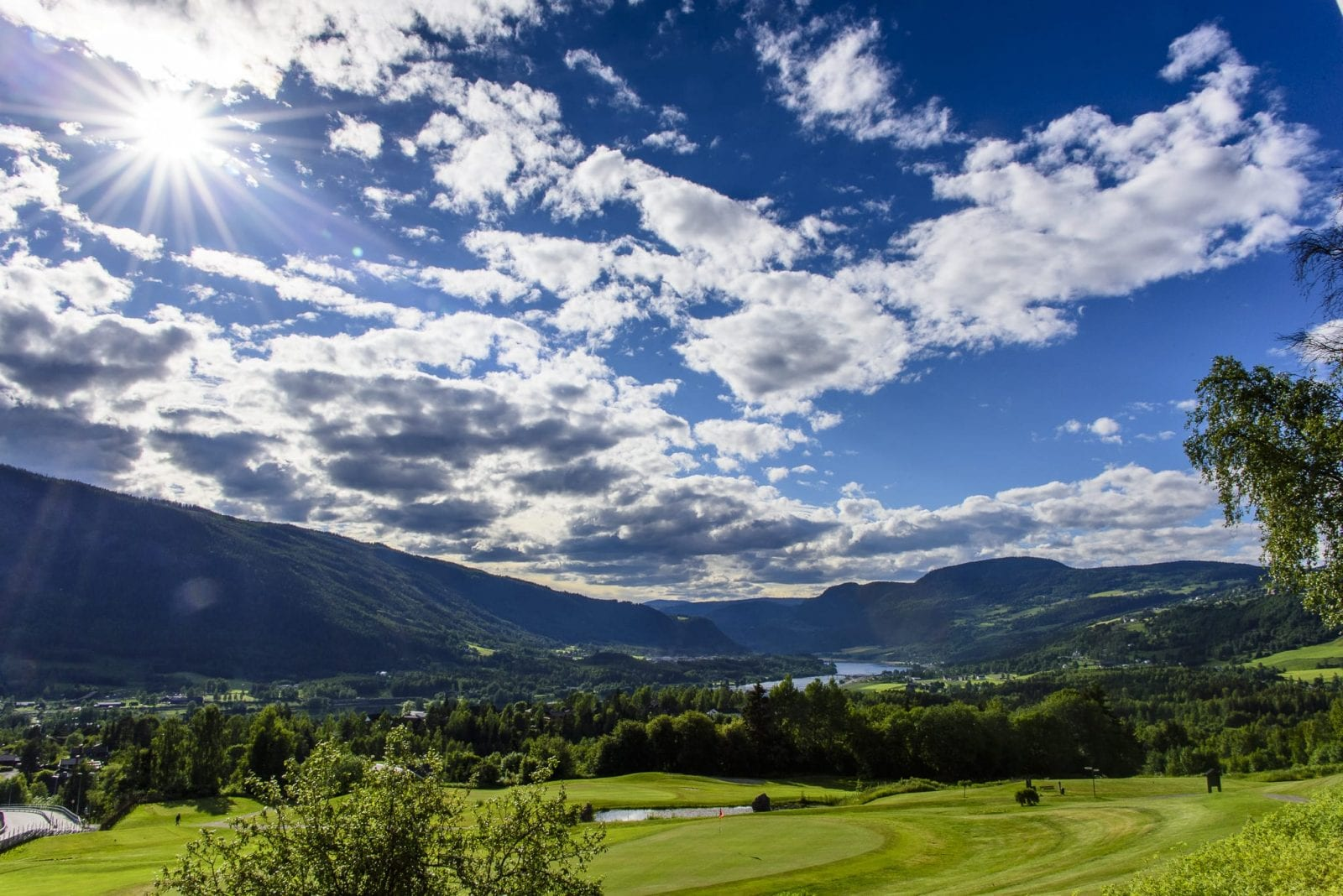 This is a photo shoot of Gudbrandsdalen valley.