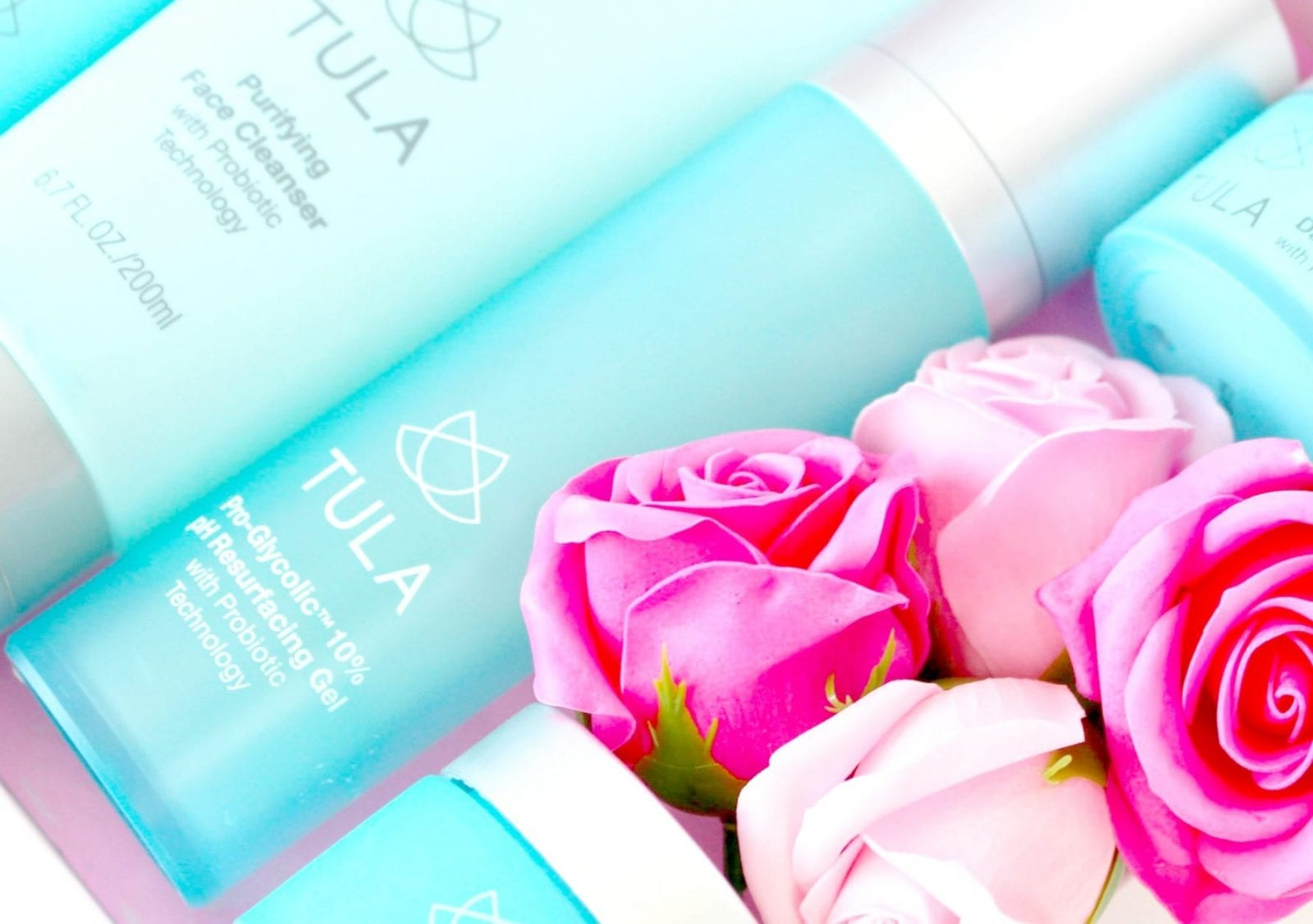 This is a close up of the Tula Skin Care cult favorites.