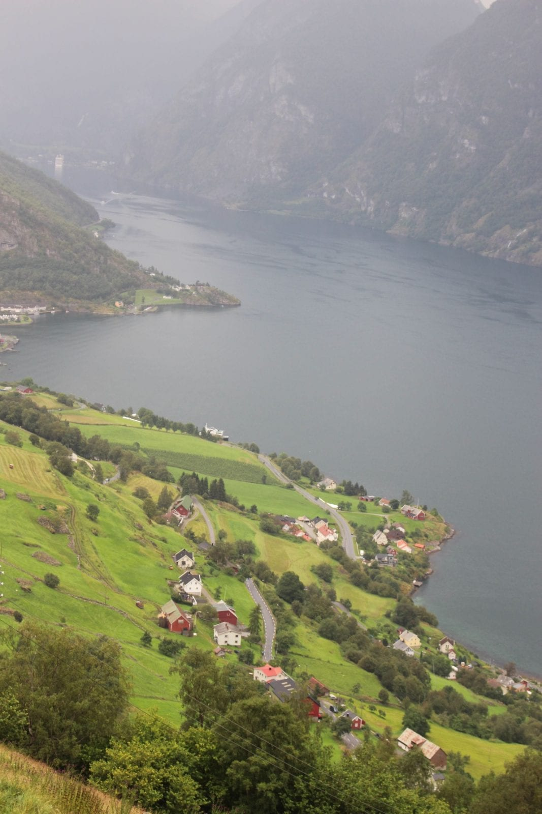 This is a wonderful capture of the view from Stegastein Viewpoint in Flam, Norway.