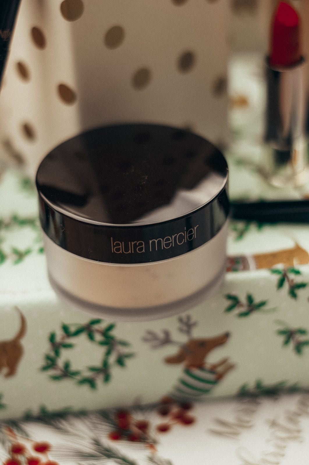 This is a close up photo of the Laura Mercier Translucent Powder.