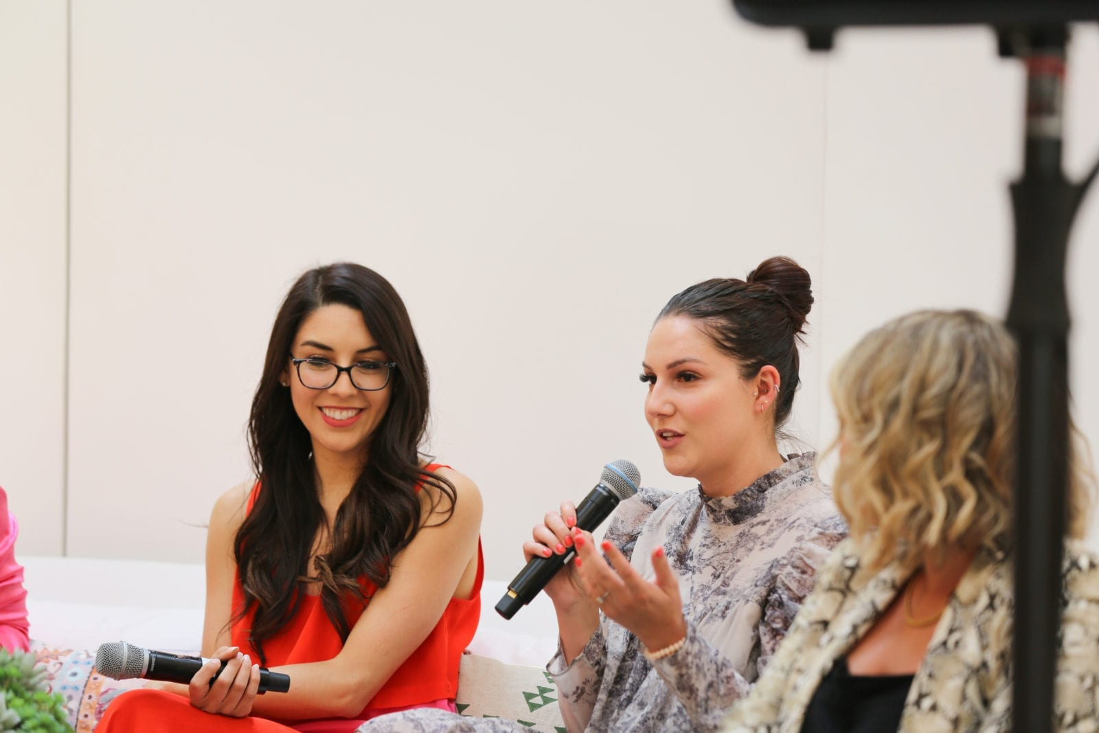 This is an image of me speaking amidst a panel at the StyleCon Summer Social in Orange County.