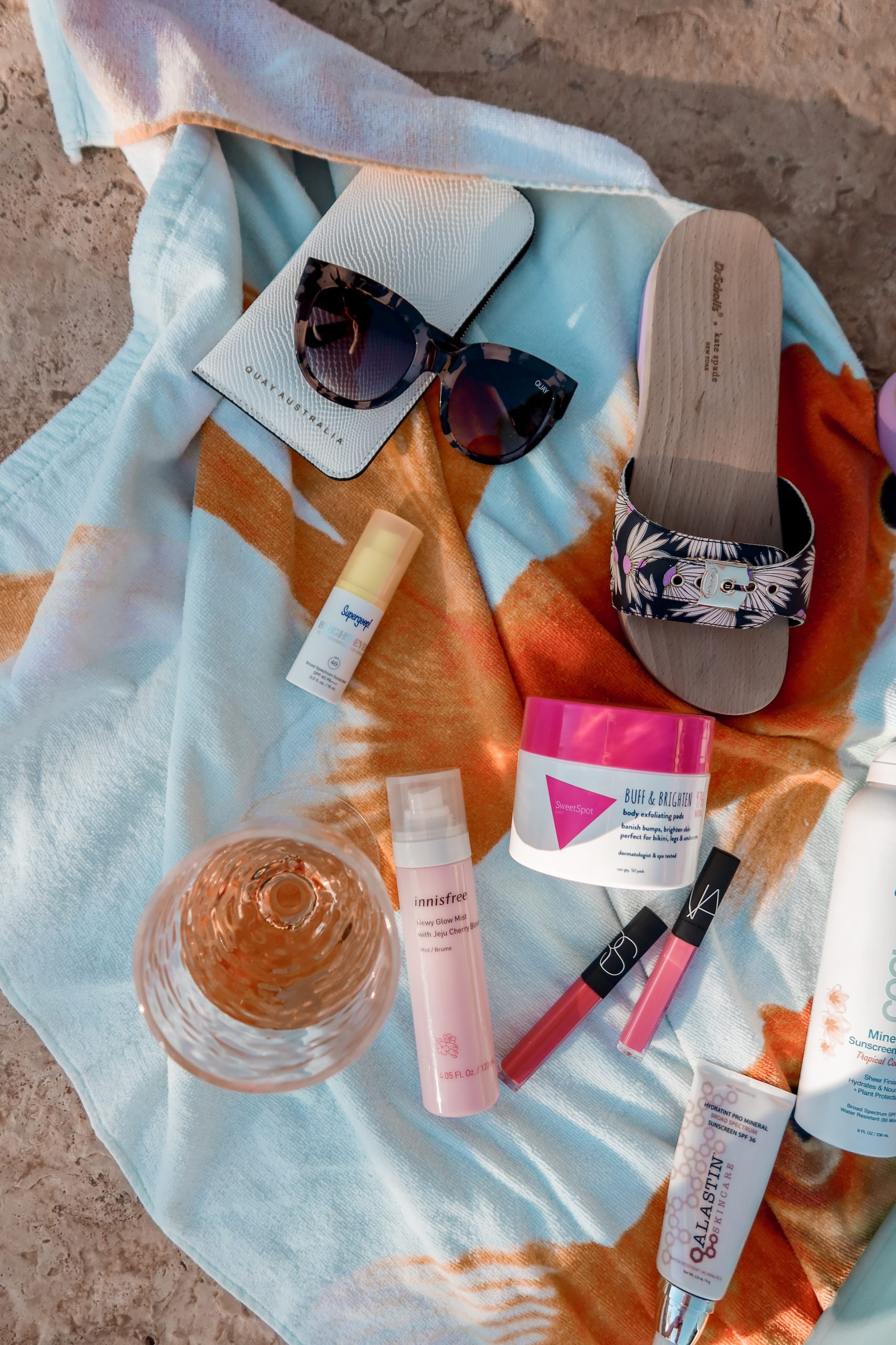 This is a flat lay of all of Adaleta Avdic's pool essentials.